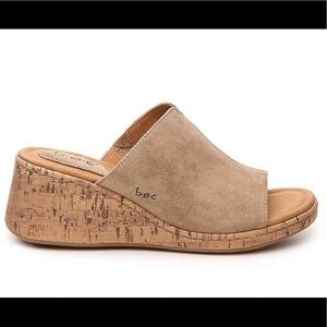 BOC Catia Slide Wedge Sandal With Suede Upper